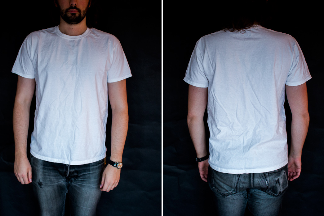 The-Great-White-T-Shirt-Review-gildan-front-back