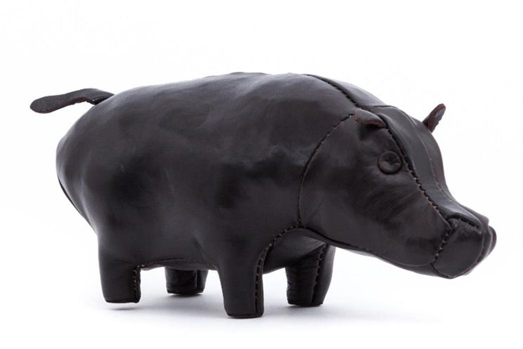 The-Real-McCoy's-Handcrafted-Horsehide-Stuffed-Animals-hippopotamus