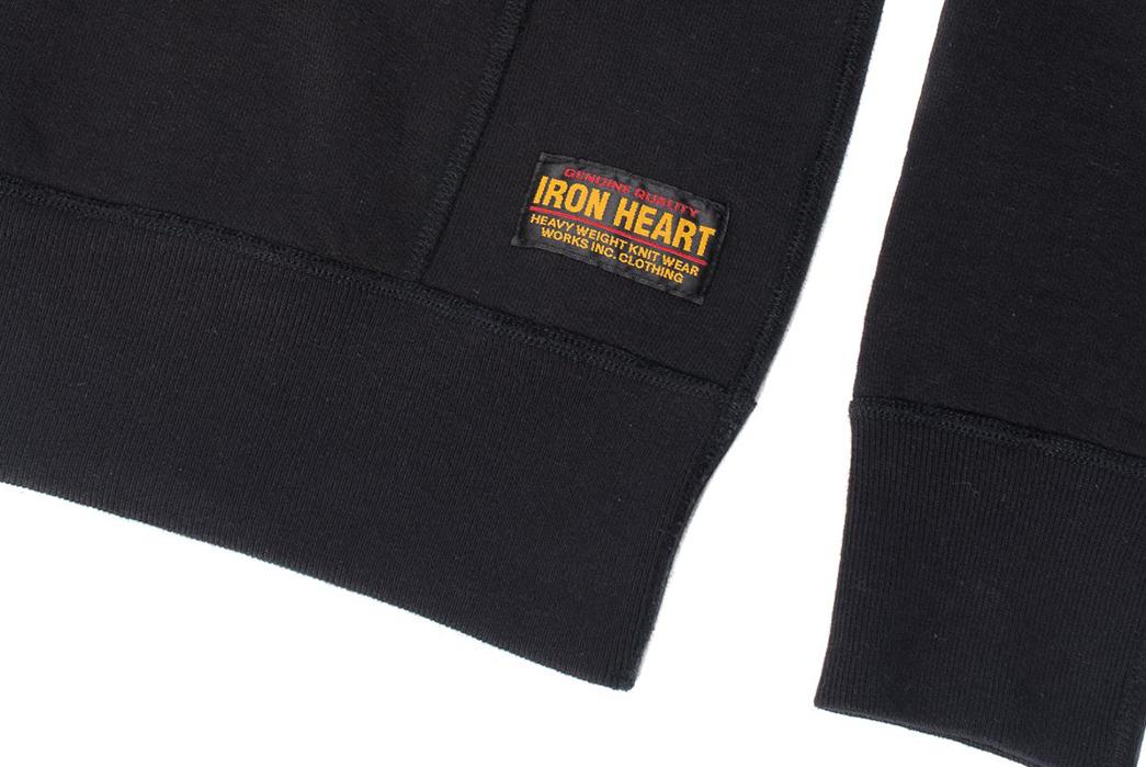 Ultra-Heavy-Loopwheel-Fleece-Zips-Up-Iron-Heart's-Latest-Sweat-sleeve-and-brand