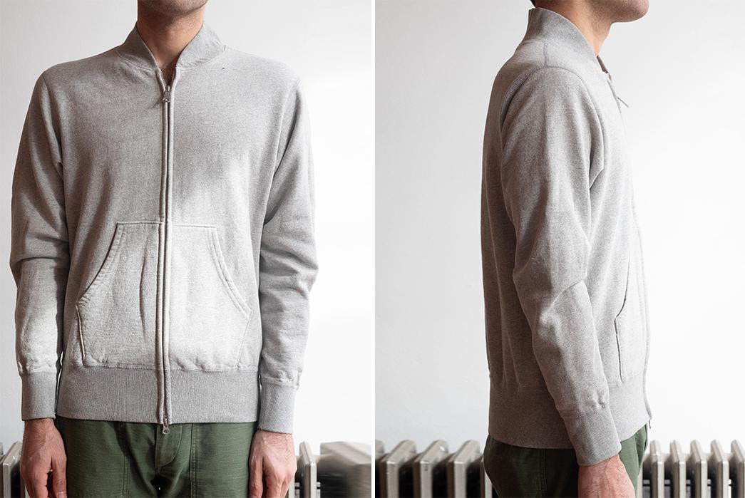 Velva-Sheen-Double-Zip-Warm-Up-Fleece-model-front-side