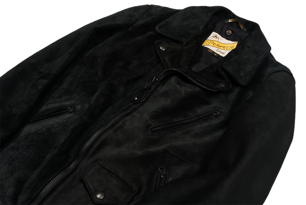 3sixteen-x-Schott-NYC-Black-Rough-Out-Perfecto-Jacket-front-angle