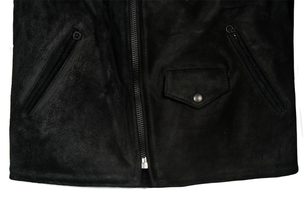 3sixteen-x-Schott-NYC-Black-Rough-Out-Perfecto-Jacket-front-down-pockets