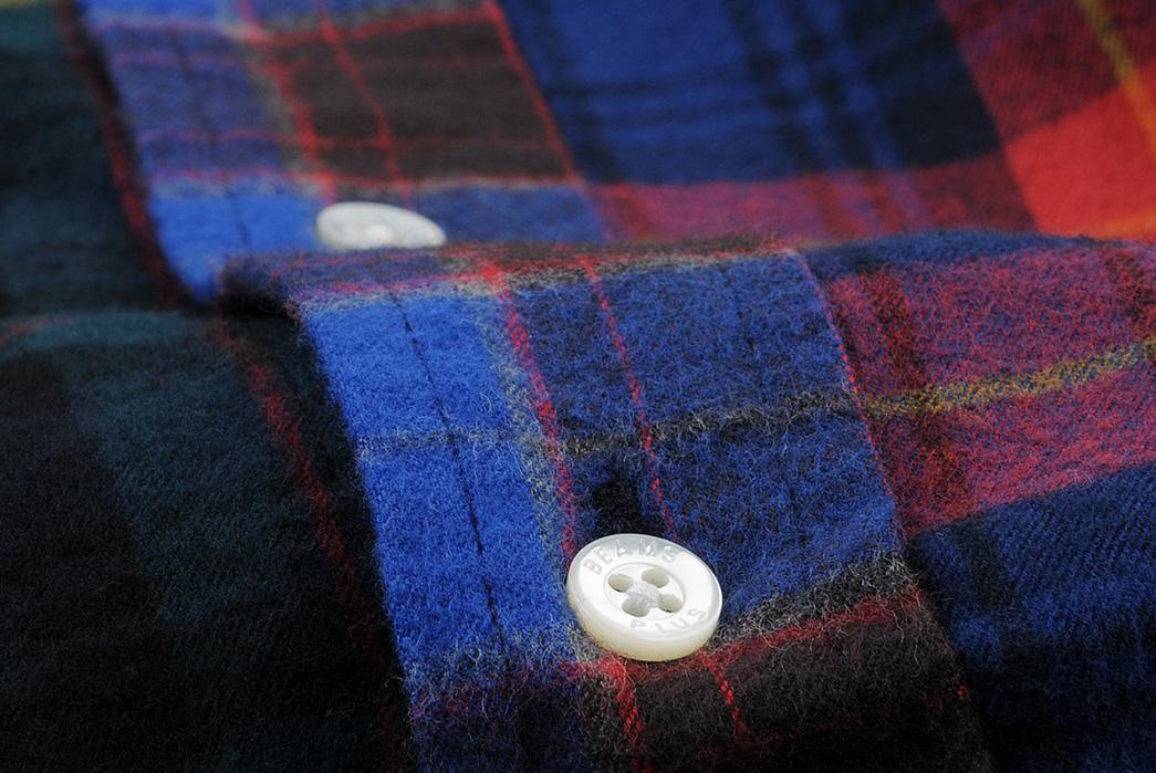 Beams+-Crazy-Button-Down-Shirts-blue-button