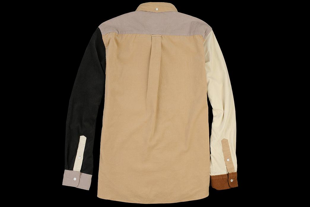 Beams+-Crazy-Button-Down-Shirts-brown-back