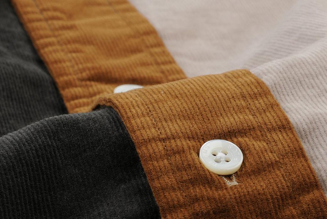Beams+-Crazy-Button-Down-Shirts-brown-button