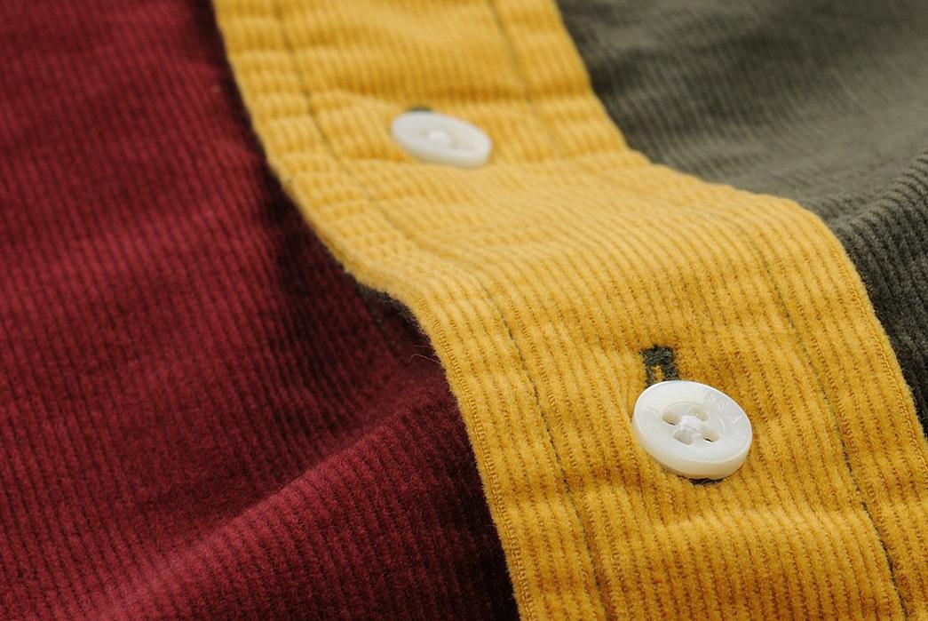 Beams+-Crazy-Button-Down-Shirts-yellow-button