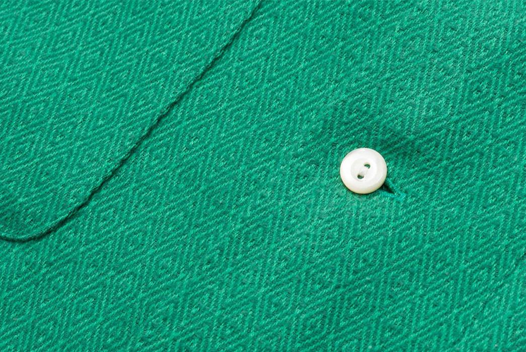 Calee-Open-Collar-Shirts-green-button
