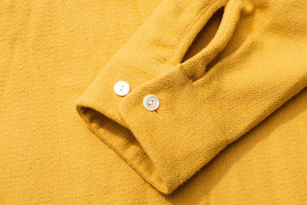 Calee-Open-Collar-Shirts-yellow-sleeve