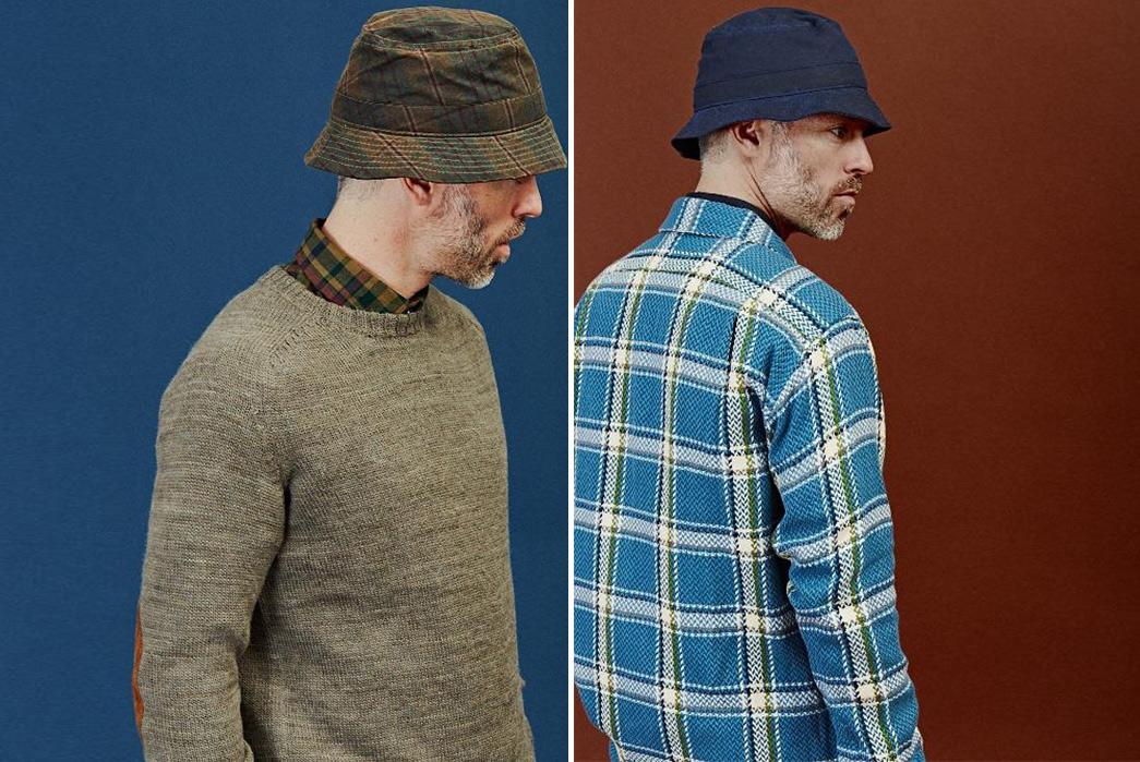 Corridor-Waxed-Bucket-Hats-model