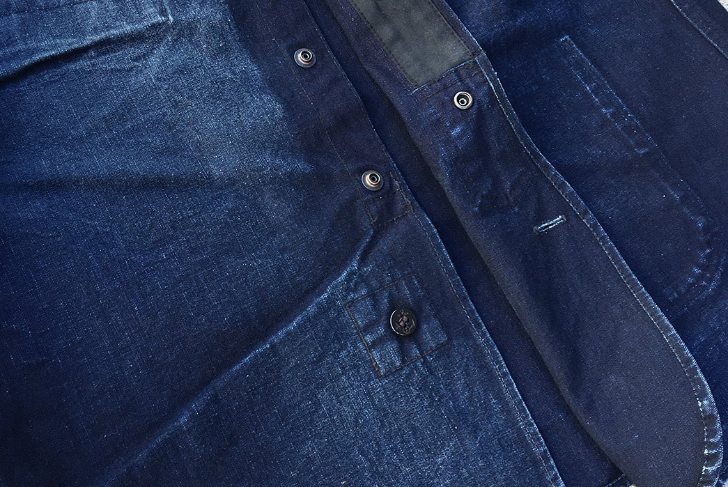 Fade-of-the-Day---Mister-Freedom-10th-Anniversary-CPO-(19-Months,-2-Washes,-2-Soaks)-front-buttons open