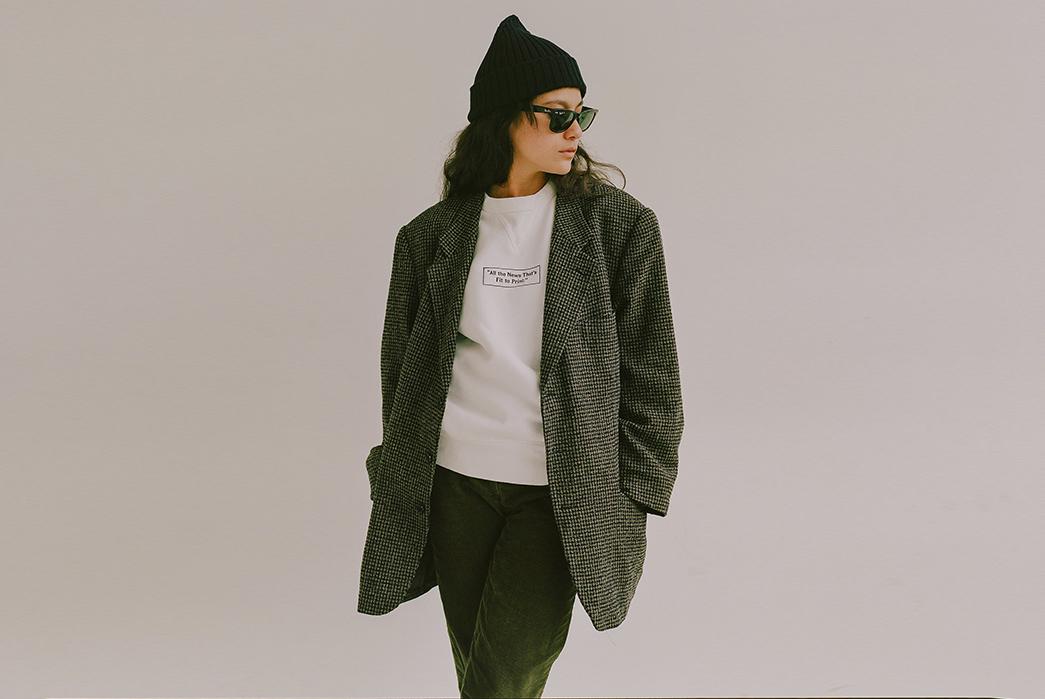 Knickerbocker-for-The-New-York-Times-female-model-front-black-white-jacket