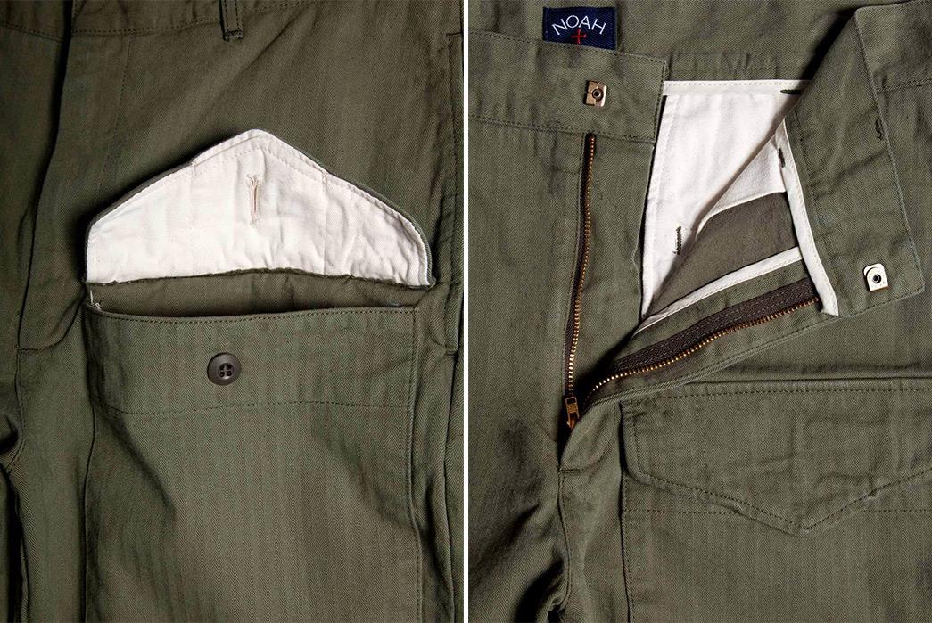 Noah-5-Pocket-Jungle-Pants-olive-front-pocket-and-open