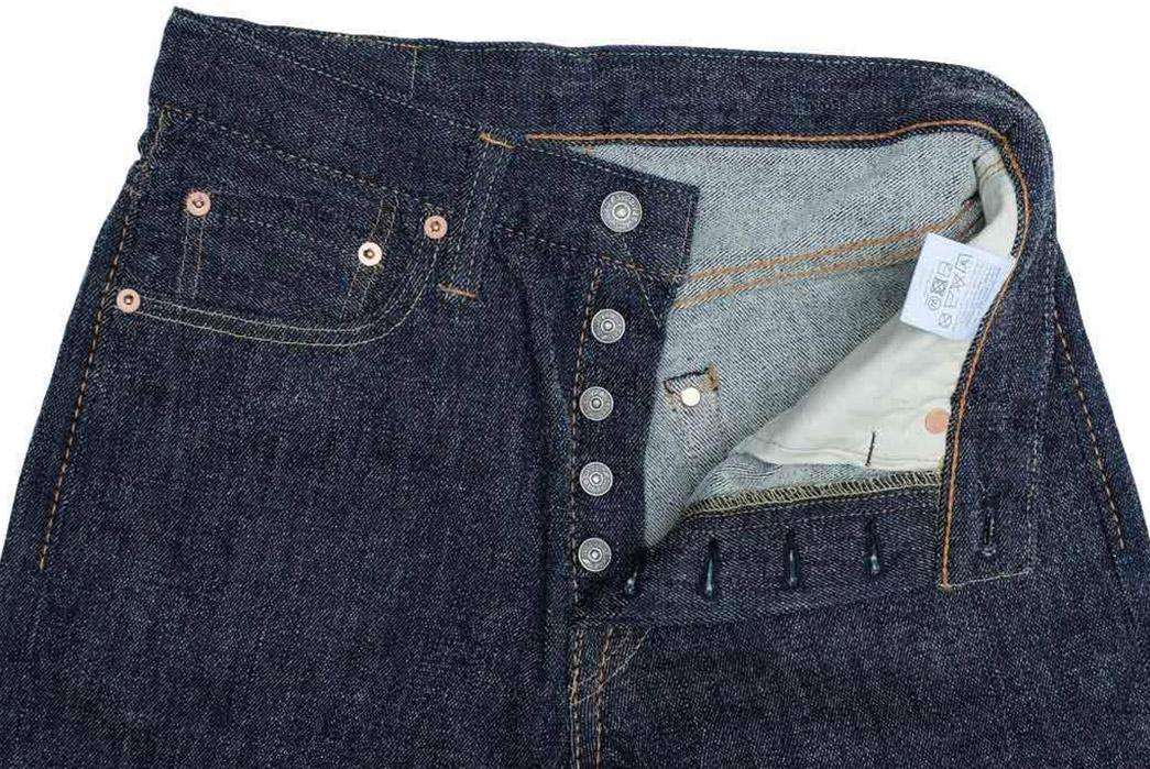 Pure-Blue-Japan-Chenille-Denim-Jeans-front-top-open