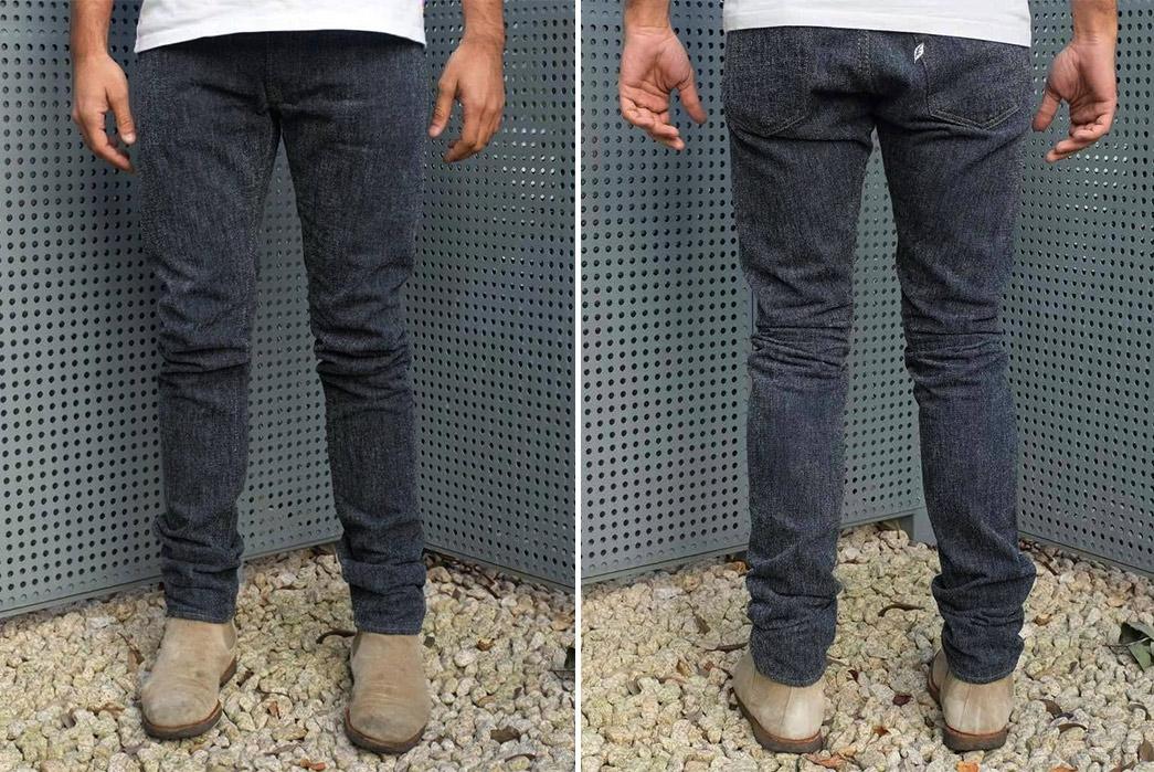 Pure-Blue-Japan-Chenille-Denim-Jeans-model-front-back