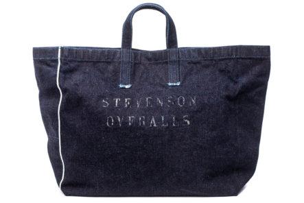 Stevenson-Overall-x-Sunset-Craftsman-21oz.-Selvedge-Denim-Tote-Bag-front