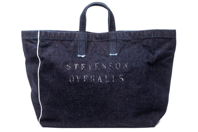 Stevenson-Overall-x-Sunset-Craftsman-21oz.-Selvedge-Denim-Tote-Bag-front</a>