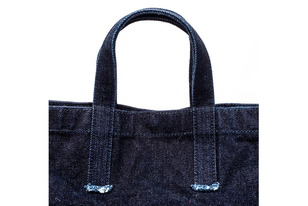 Stevenson-Overall-x-Sunset-Craftsman-21oz.-Selvedge-Denim-Tote-Bag-front-top