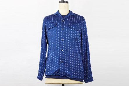 Blue-Blue-Japan-Shirt-Flower-Komon-front