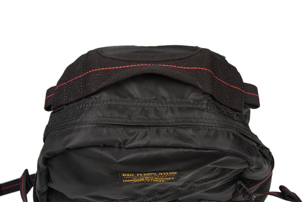 Buzz-Rickson-x-Porter-Backpack-black-front-top-2