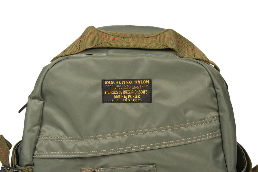 Buzz-Rickson-x-Porter-Backpack-light-front-top