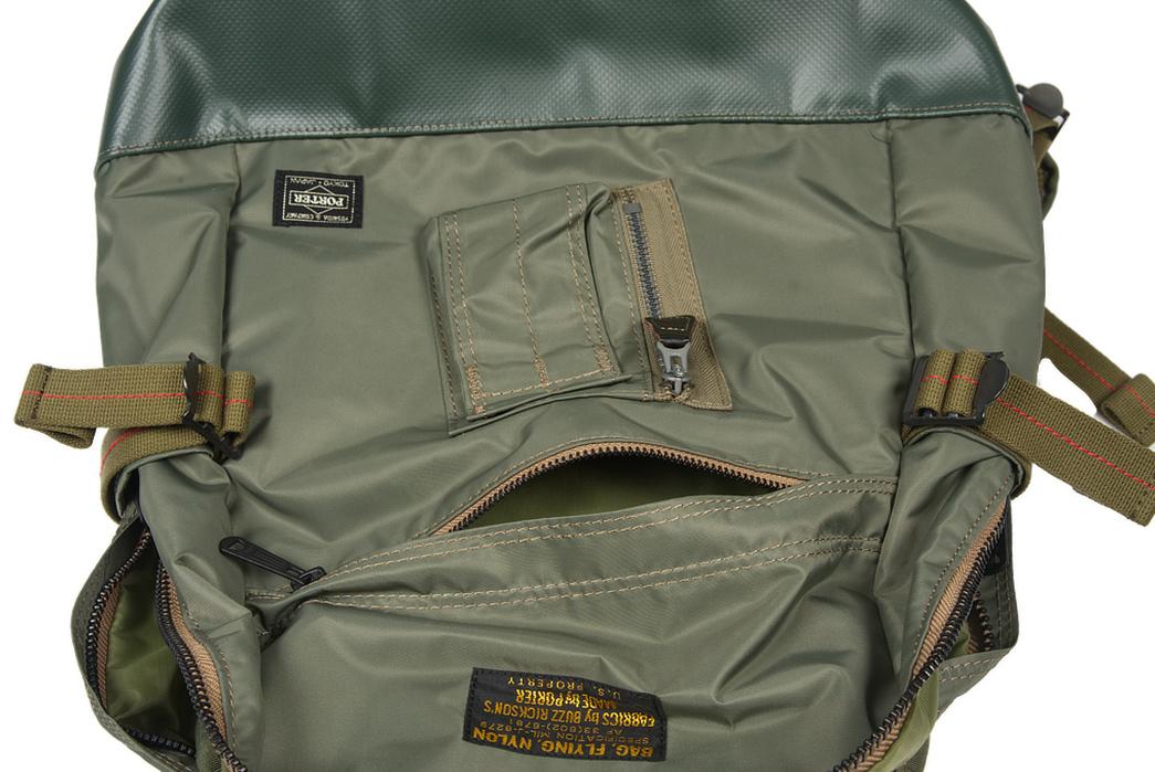 Buzz-Rickson-x-Porter-Backpack-light-pocket-open