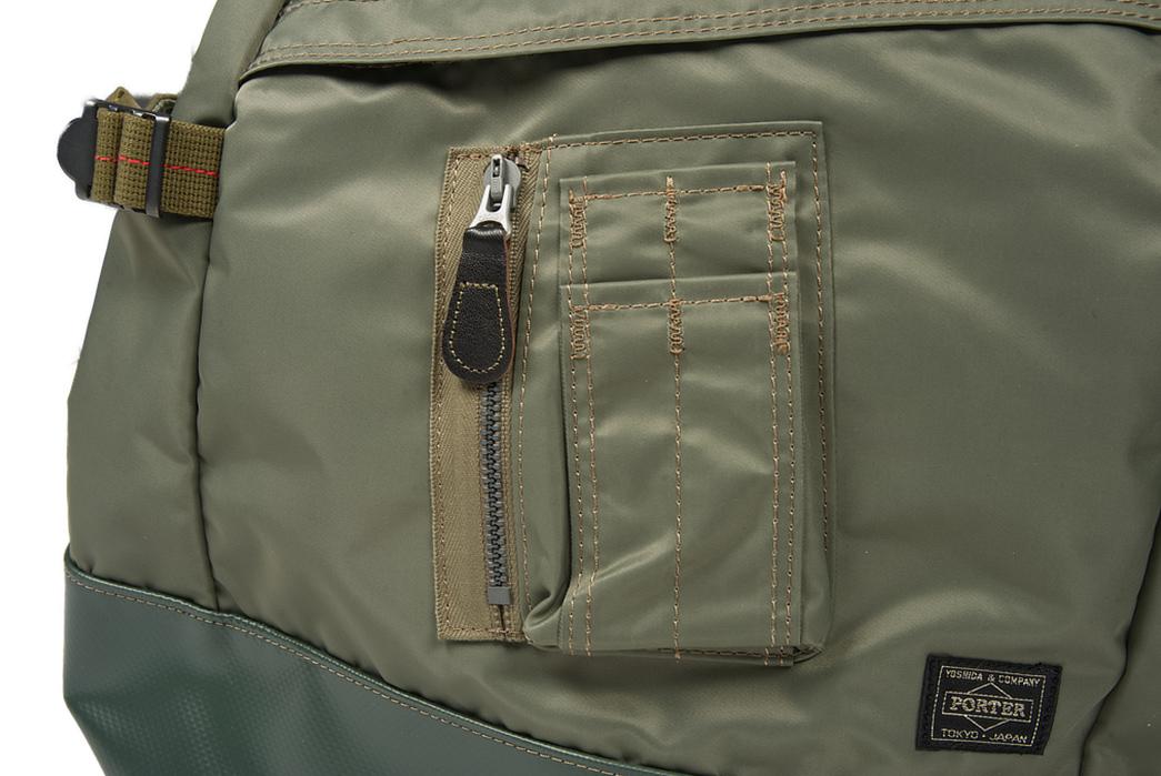 Buzz-Rickson-x-Porter-Backpack-light-pocket-with-zipper