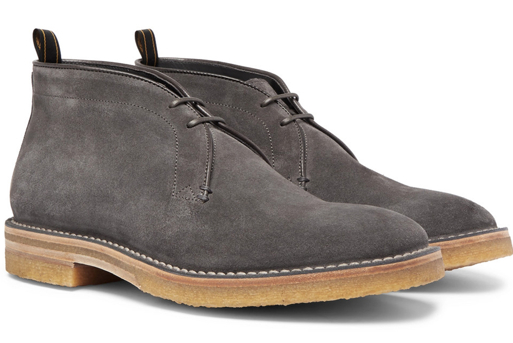 Chukka-Boots---Five-Plus-One-Plus-One---Dunhill-Chukka-in-Grey-Suede