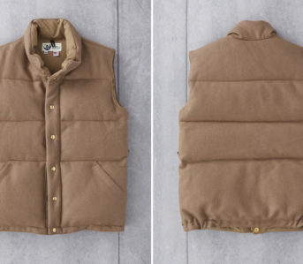 Crescent-Down-Works-Pendleton-Melton-Wool-Italian-Vest-front-back
