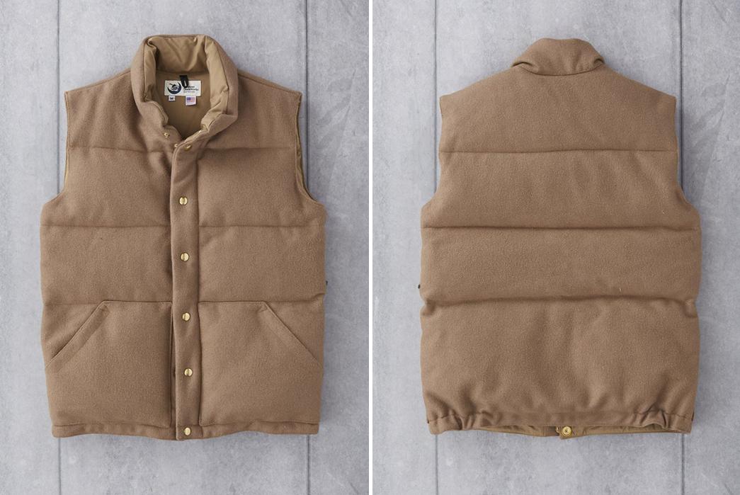 Crescent-Down-Works-Pendleton-Melton-Wool-Italian-Vest-front-back