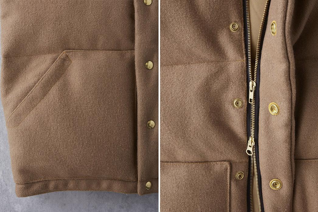 Crescent-Down-Works-Pendleton-Melton-Wool-Italian-Vest-front-detailed