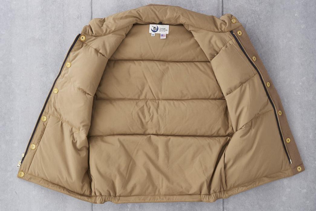 Crescent-Down-Works-Pendleton-Melton-Wool-Italian-Vest-front-open