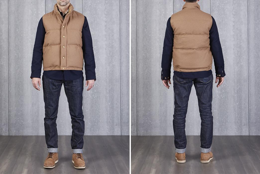 Crescent-Down-Works-Pendleton-Melton-Wool-Italian-Vest-model-front-back