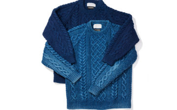 Fade-of-the-Day---Inverallan-x-Allevol-1A-Indigo-Sweater-(4-Years,-1-Wash)-front-dark-and-light