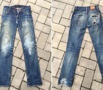 Fade-of-the-DFade-of-the-Day---Nudie-Slim-Jim-Dry-Ecru-Embo-(7-Years,-4-Washes)-front-backay---Nudie-Slim-Jim-Dry-Ecru-Embo-(7-Years,-4-Washes)-front-back