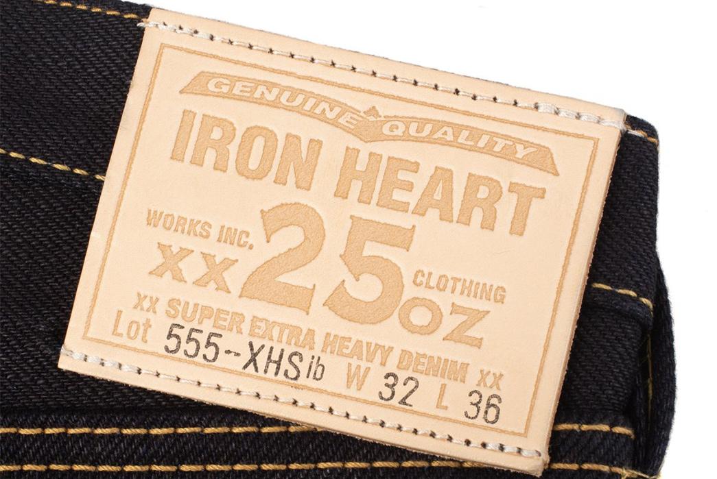 Iron-Heart-25oz.-Indigo-Black-Selvedge-Denim-IH-555-XHSib-back-leather-patch