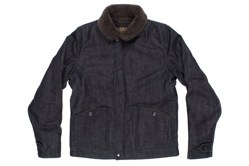 Iron-Heart-Alpaca-Lined-14oz.-Selvedge-Denim-B-2-Type-Jacket-front