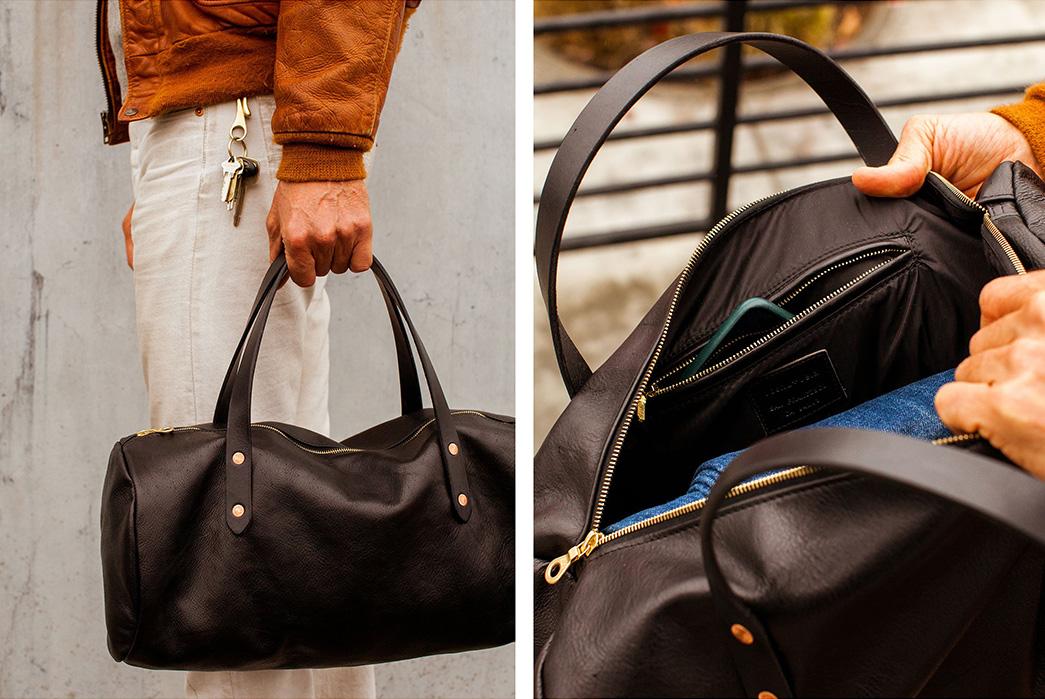 Joshu-+-Vela-Leather-Duffle-black-inside-and-model