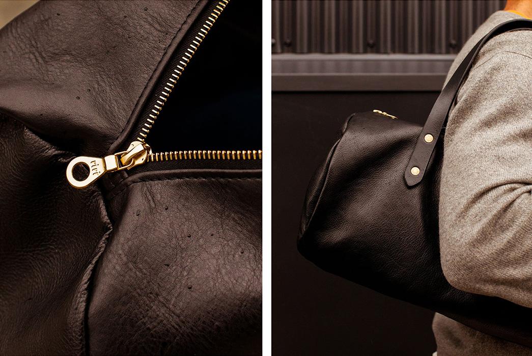 Joshu-+-Vela-Leather-Duffle-black-zipper-and-model
