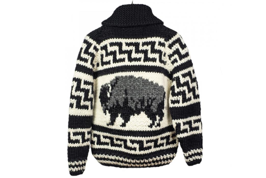 Kanata-Hand-Knit-Cowichan-Cardigans-black-white-back