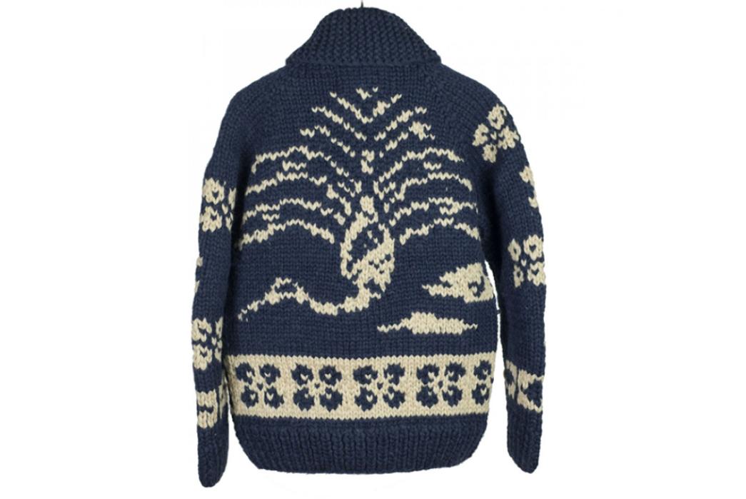 Kanata-Hand-Knit-Cowichan-Cardigans-blue-white-back
