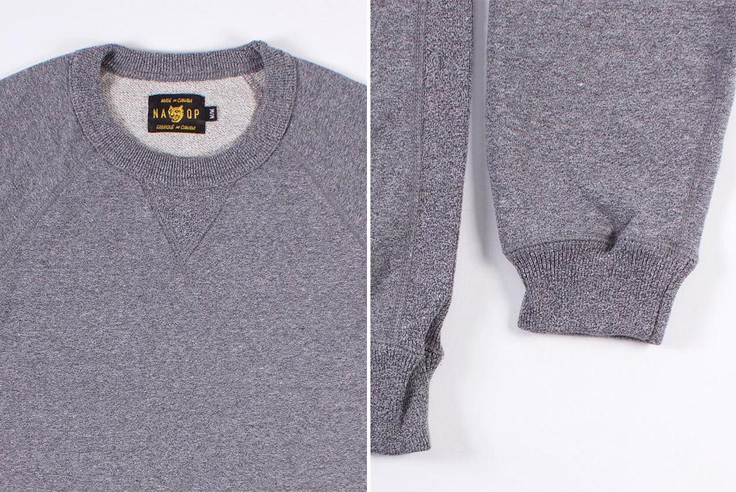 NAQP-Rundle-Raglan-Crewneck-Sweatshirts-grey-front-detailed-and-sleeve