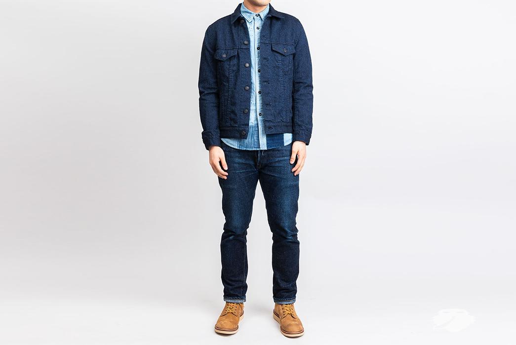 Pure-Blue-Japan-6091-Wool-Type-3-Jacket-model-front-fullž