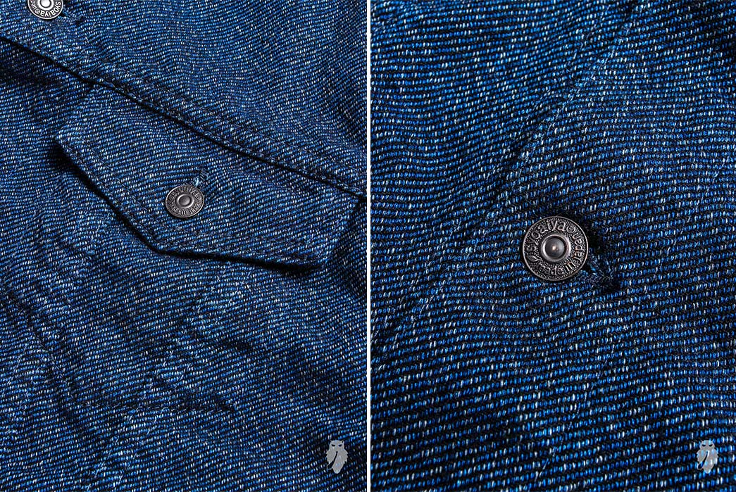 Pure-Blue-Japan-6091-Wool-Type-3-Jacket-pocket-and-button