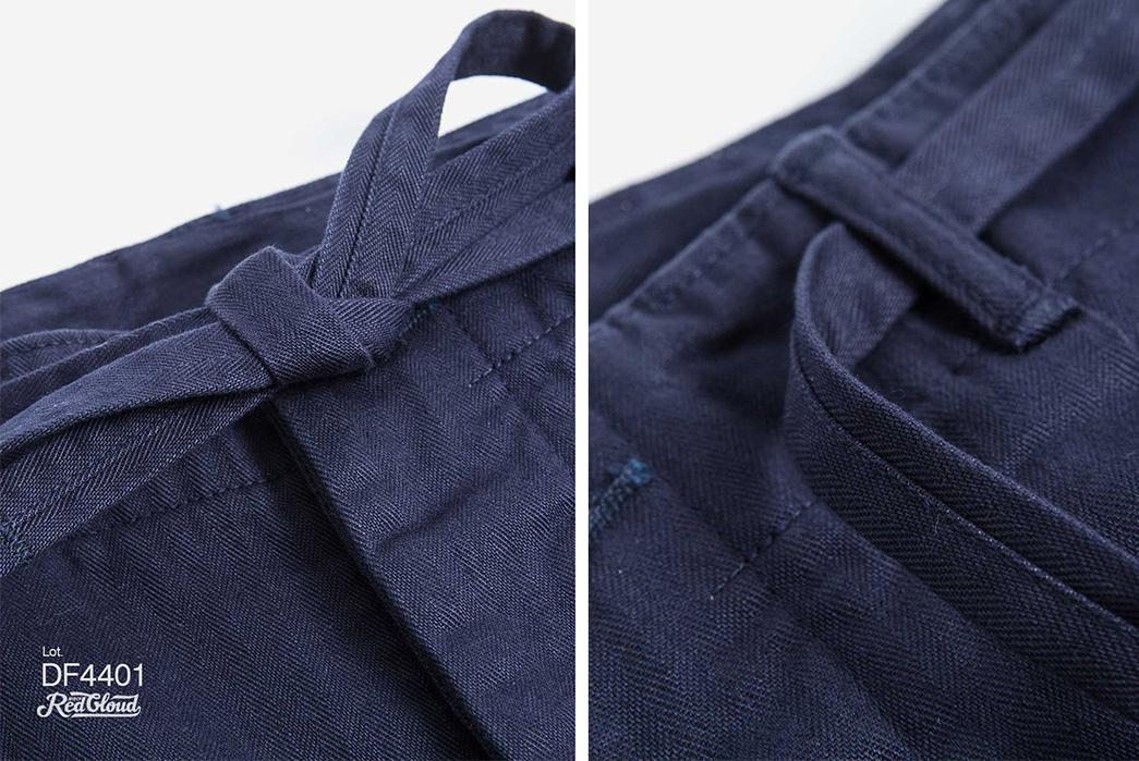Red-Cloud-HBT-Drawstring-Pants,-Slacks-for-Slackers-blue-front-detailed