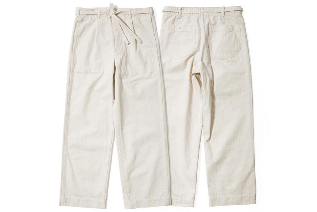 Red-Cloud-HBT-Drawstring-Pants,-Slacks-for-Slackers-white-front-back