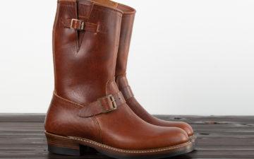 Standard-&-Strange-x-John-Lofgren-Devil's-Causeway-Horsehide-Engineer-Boot-pair-side