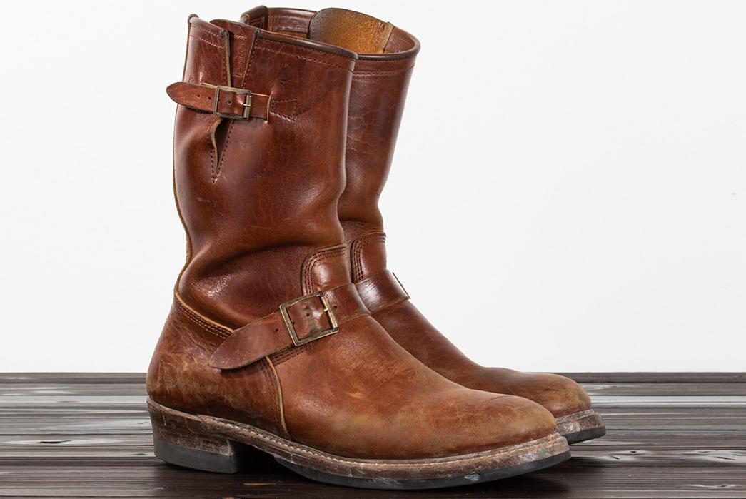Standard-&-Strange-x-John-Lofgren-Devil's-Causeway-Horsehide-Engineer-Boot-pair-side-old