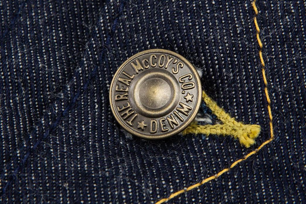 The-Real-McCoy's-Lot-002LJ-Denim-Jacket-button