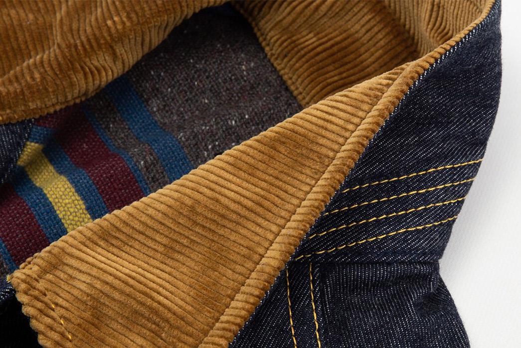 The-Real-McCoy's-Lot-002LJ-Denim-Jacket-front-collar-detailed