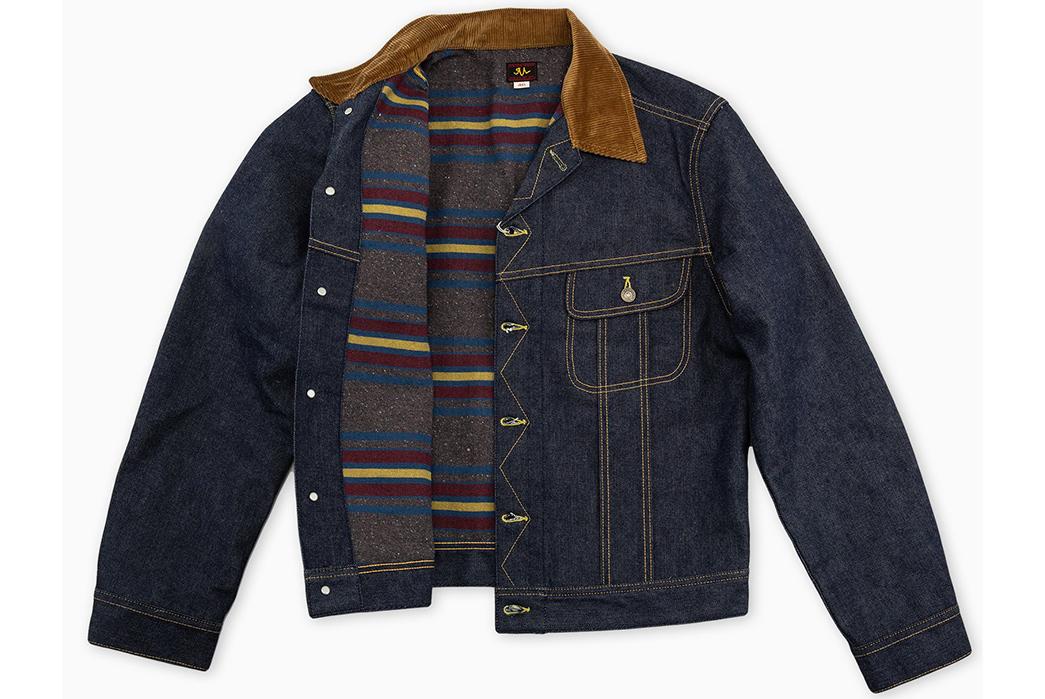 The-Real-McCoy's-Lot-002LJ-Denim-Jacket-front-open